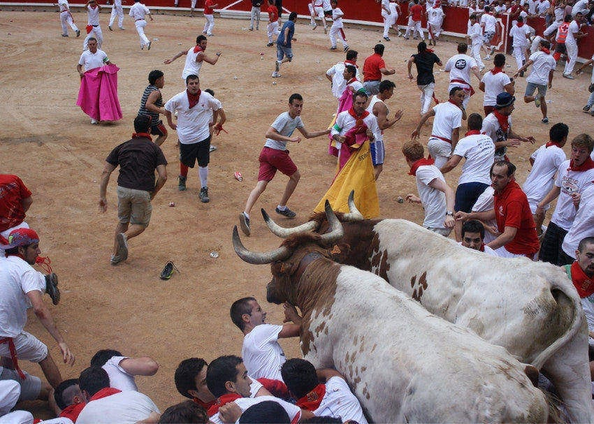 how to survive running with the bulls
